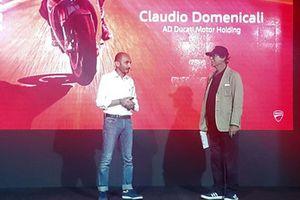 Claudio Domenicali, AD Ducati Motor Holding, sul palco