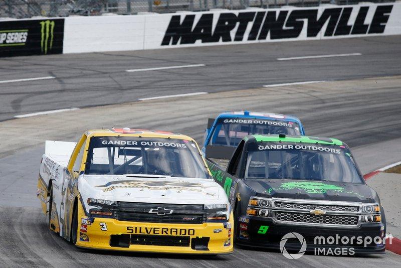 #3: Jordan Anderson, Jordan Anderson Racing, Chevrolet Silverado Bommarito.com / WCIparts.com #9: Codie Rohrbaugh, CR7 Motorsports, Chevrolet Silverado Grant County Mulch