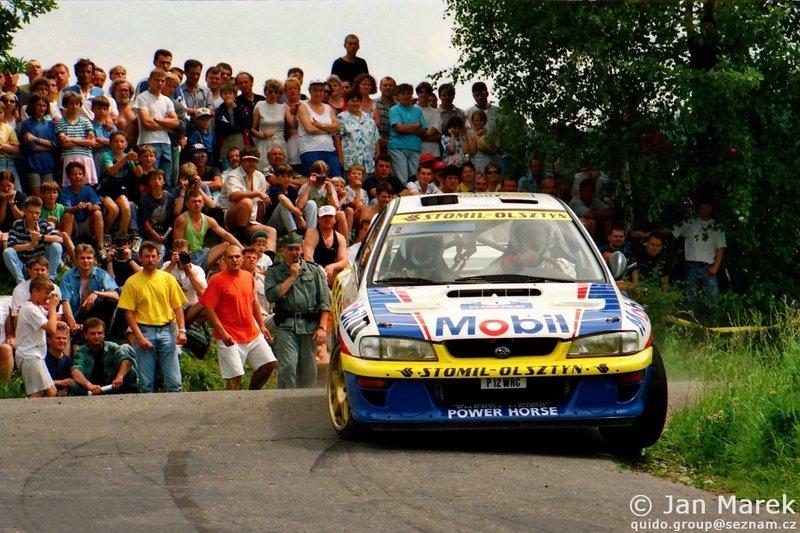 Krzysztof Hołowczyc, Maciej Wisławski, Subaru Impreza S3 WRC '97, Rajd Polski 1998