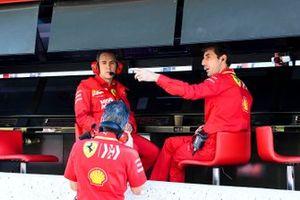 Ferrari personal on pit wall