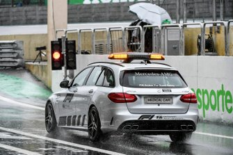 The Medical Car drives out of the pit lane
