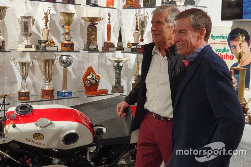 Giacomo Agostini e Lin Jarvis, Managing Director, Yamaha