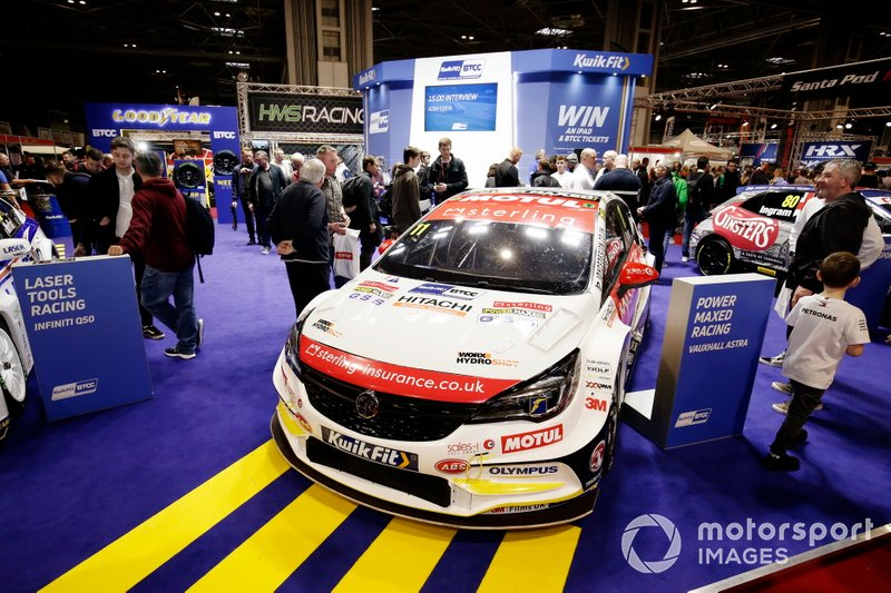 Jason Plato's Vauxhall Astra on the BTCC stand