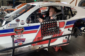 Kevin Harvick in Ryan Preece's NASCAR Modified