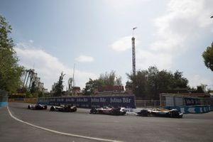 Pascal Wehrlein, Mahindra Racing, M6Electro Jean-Eric Vergne, DS Techeetah, DS E-Tense FE20, Edoardo Mortara, Venturi, EQ Silver Arrow 01
