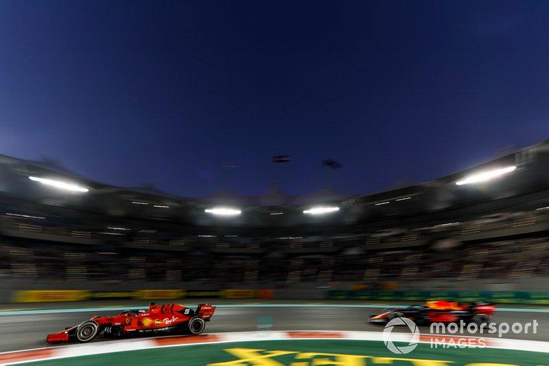 Sebastian Vettel, Ferrari SF90, Alexander Albon, Red Bull RB15