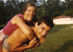 Adriane Yamin y Ayrton Senna