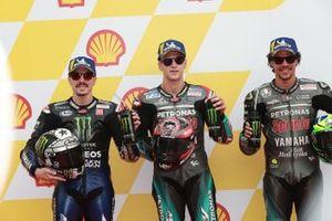 Polesitter Fabio Quartararo, Petronas Yamaha SRT, second place Maverick Vinales, Yamaha Factory Racing, third place Franco Morbidelli, Petronas Yamaha SRT
