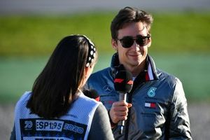 Esteban Gutierrez, Mercedes AMG, talks to the media