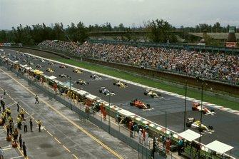 Startaufstellung zum GP Mexiko 1990 in Mexico City