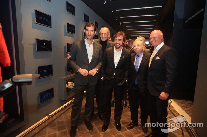 Jean Todt, Presidente FIA, Mark Webber, Hans-Joachim Stuck, Fernando Alonso