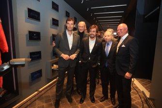 Jean Todt, presidente de la FIA, Mark Webber, Hans-Joachim Stuck, Fernando Alonso