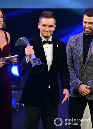 Colin Turkington receives the National Driver of the Year award