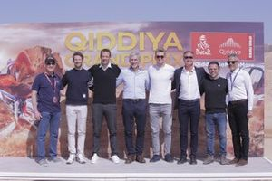 Presentation of the Qiddiya Grand Prix with Nico Hülkenberg, Alexander Wurz, Romain Grosjean, Damon Hill, David Coulthard, Loris Capirossi