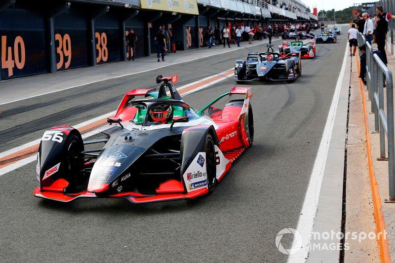 Daniel Abt, Audi Sport ABT Schaeffler, Audi e-tron FE06 exits the pit lane