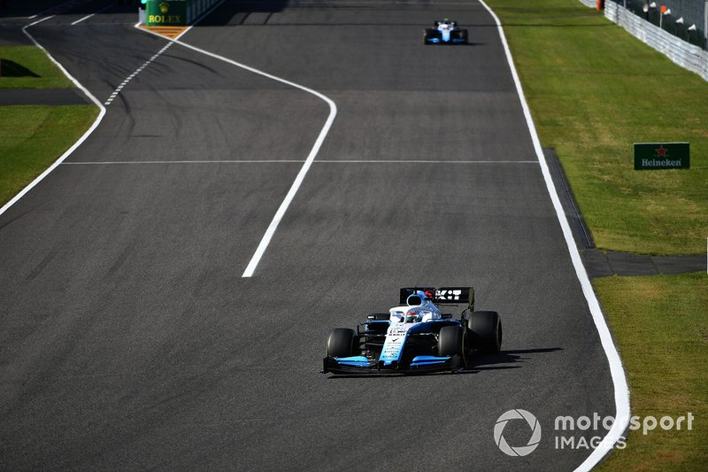 George Russell, Williams Racing FW42, voor Robert Kubica, Williams FW42