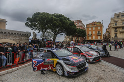 Sébastien Ogier, Julien Ingrassia, Ford Fiesta WRC, M-Sport, Jari-Matti Latvala, Miikka Anttila, Toyota Yaris WRC, Toyota Racing, Ott Tänak, Martin Järveoja, Ford Fiesta WRC, M-Sport