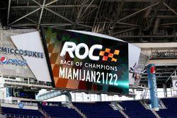 Race of Champions branding in the stadium