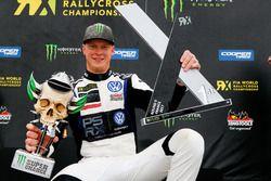 Podium: winnaar Johan Kristoffersson, PSRX Volkswagen Sweden, VW Polo GTi