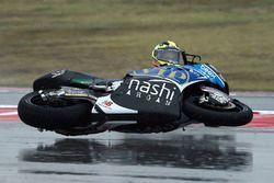 Isaac Viñales, SAG Racing Team crash