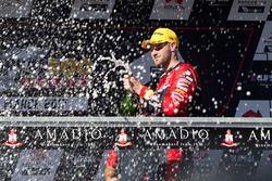 Podium: race winner Shane van Gisbergen, Triple Eight Race Engineering Holden celebrates with champagne