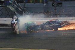 Авария: Джастин Фонтейн, Toyota, Коди Рорбах, Dodge, Бобби Герхарт, Chevrolet