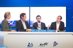 Gerard Neveu, WEC CEO, Pierre Fillon, ACO President with Vincent Beaumesnil, ACO Sporting Director