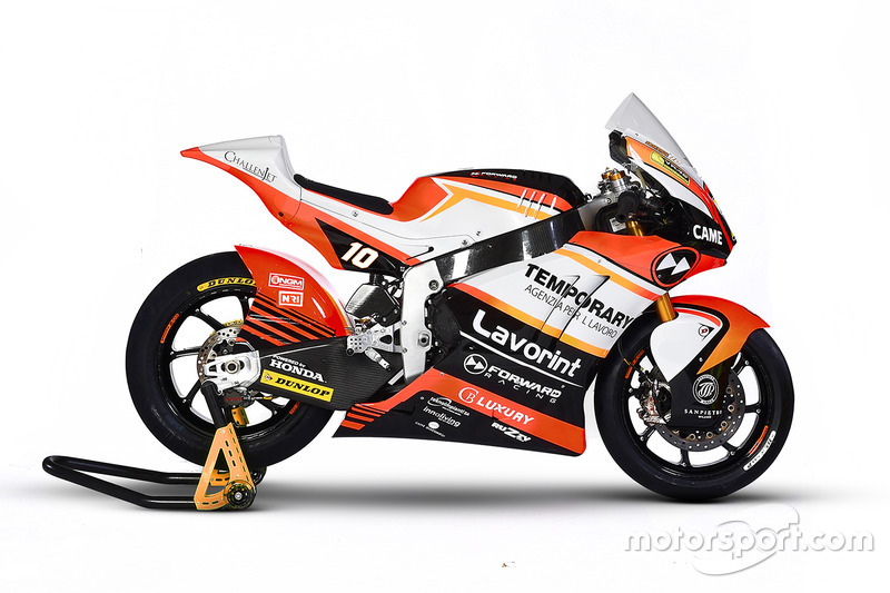 The bike of Luca Marini, Forward Racing