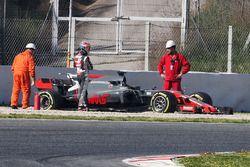 Romain Grosjean, Haas F1 Team VF-17 off the circuit
