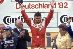 1. Patrick Tambay, Ferrari; 2. Rene Arnoux, Renault