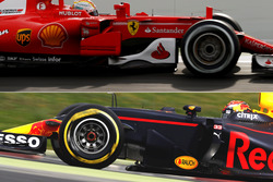 Red Bull Racing RB13 & Ferrari SF70H bargeboards