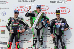 Podium Supersport: Winner Martin Jessopp, Triumph, Ian Hutchinson, Yamaha, James Hillier, Kawasaki