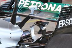 Mercedes AMG F1 W08, detalle del alerón trasero