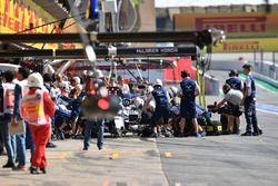 Felipe Massa, Williams FW40 práctica un pit stop.
