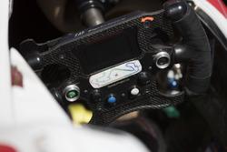 The steering wheel of Antonio Fuoco, PREMA Powerteam