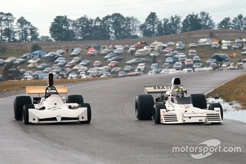 Wilson Fittipaldi disputa posição com James Hunt no GP do Canadá de 1973