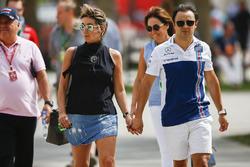 Felipe Massa, Williams, con su esposa