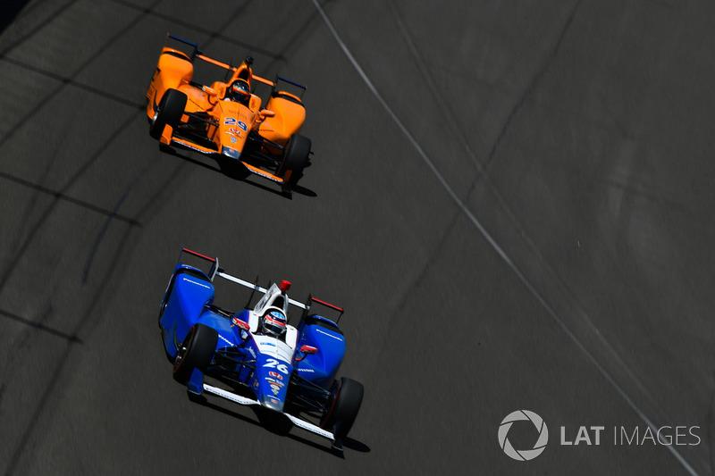 Takuma Sato, Andretti Autosport Honda, Fernando Alonso, Andretti Autosport Honda