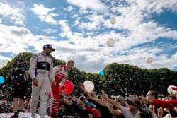 José María López, DS Virgin Racing y Felix Rosenqvist, Mahindra Racing en el podium