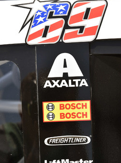 Calcomanía de Nicky Hayden en el coche de Kasey Kahne, Hendrick Motorsports Chevrolet