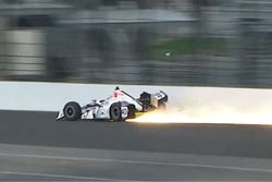 Zach Veach, A.J. Foyt Enterprises Chevrolet crash