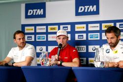 Press Conference, Gary Paffett, Mercedes-AMG Team HWA, Mercedes-AMG C63 DTM, Jamie Green, Audi Sport Team Rosberg, Audi RS 5 DTM, Timo Glock, BMW Team RMG, BMW M4 DTM
