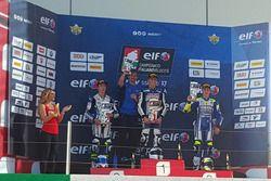 Simone Mazzola, ProGP Racing, sul gradino più alto del podio a Imola