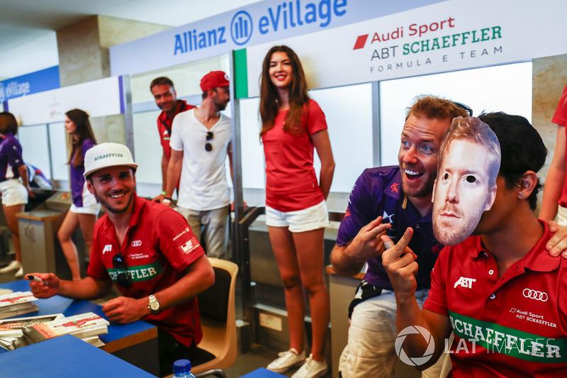 Daniel Abt, ABT Schaeffler Audi Sport, Sam Bird, DS Virgin Racing, Lucas di Grassi, ABT Schaeffler Audi Sport