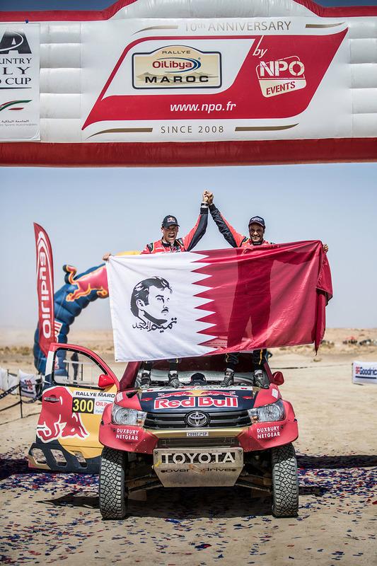 Pemenang #300 Toyota Hilux: Nasser Al-Attiyah, Matthieu Baumel