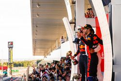 Max Verstappen, Red Bull, second place, James Vowles, Chief Strategist, Mercedes AMG F1, Race winner