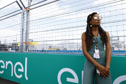 Actress Naomie Harris on the grid