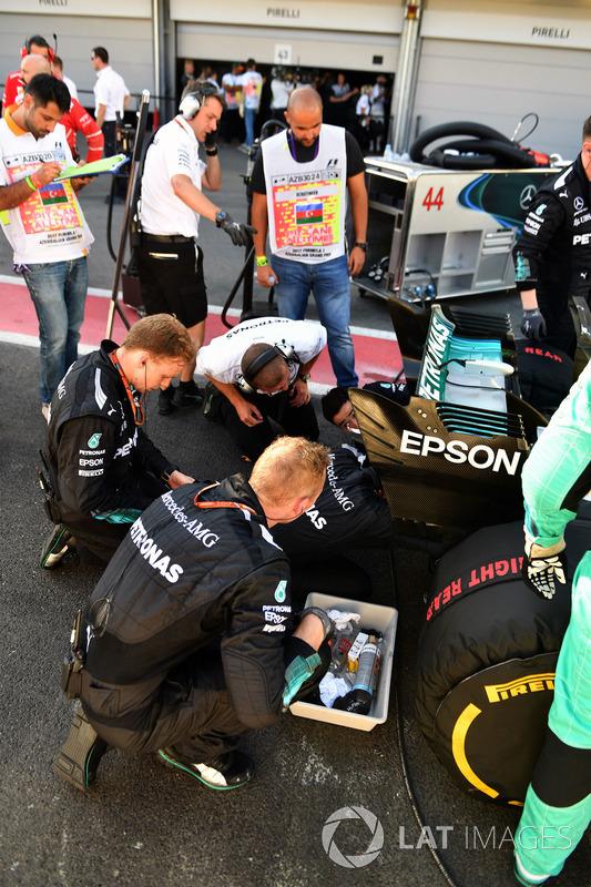 El coche de Lewis Hamilton, Mercedes AMG F1 W08