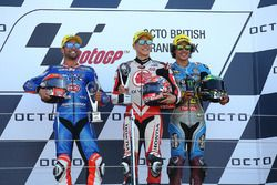 Podio: ganador de la carrera Takaaki Nakagami, Idemitsu Honda equipo Asia, segundo lugar Mattia Pasi