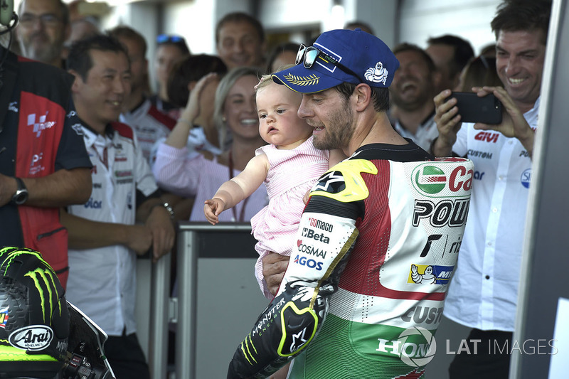 Cal Crutchlow, Team LCR Honda, mit Tochter Willow